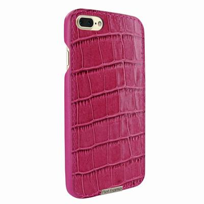 Piel Frama iPhone 7 Plus / 8 Plus FramaSlimGrip Leather Case - Fuchsia Cowskin-Crocodile