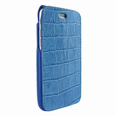 Piel Frama iPhone 7 Plus / 8 Plus iMagnumCards Leather Case - Blue Cowskin-Crocodile