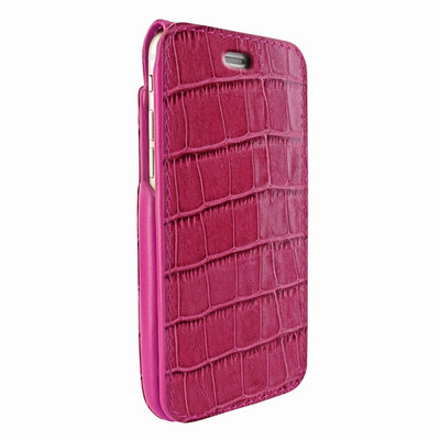 Piel Frama iPhone 7 Plus / 8 Plus iMagnumCards Leather Case - Fuchsia Cowskin-Crocodile