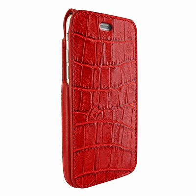 Piel Frama iPhone 7 Plus / 8 Plus iMagnumCards Leather Case - Red Cowskin-Crocodile