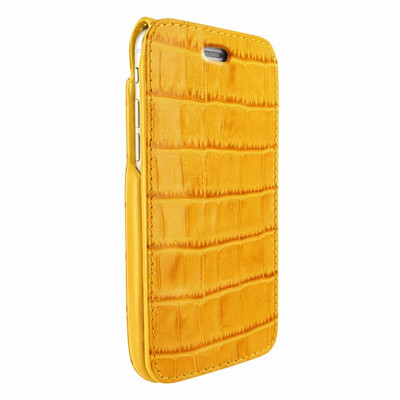 Piel Frama iPhone 7 Plus / 8 Plus iMagnumCards Leather Case - Yellow Cowskin-Crocodile