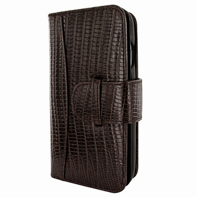 Piel Frama iPhone 7 Plus / 8 Plus WalletMagnum Leather Case - Brown Cowskin-Lizard