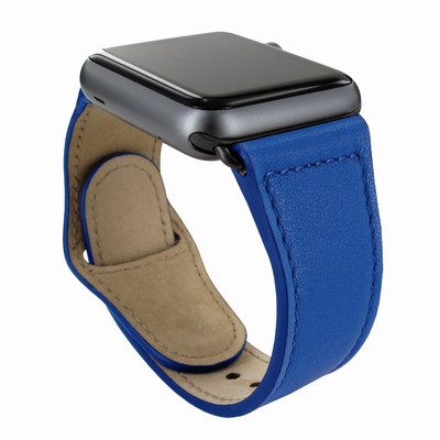 Piel Frama Apple Watch 42 mm Leather Strap - Blue / Black Adapter
