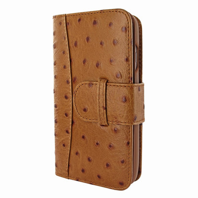 Piel Frama iPhone 7 Plus / 8 Plus WalletMagnum Leather Case - Tan Cowskin-Ostrich