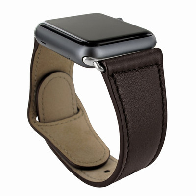 Piel Frama Apple Watch 42 mm Leather Strap - Brown / Silver Adapter