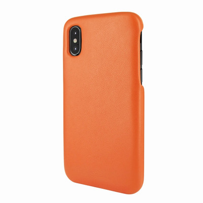 Piel Frama iPhone X / Xs FramaSlimGrip Leather Case - Orange