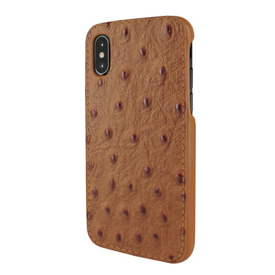 Piel Frama iPhone X / Xs FramaSlimGrip Leather Case - Tan Cowskin-Ostrich