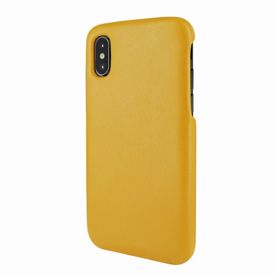 Piel Frama iPhone X / Xs FramaSlimGrip Leather Case - Yellow