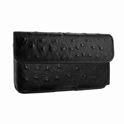 Piel Frama iPhone X / Xs Horizontal Pouch Leather Case - Black Cowskin-Ostrich