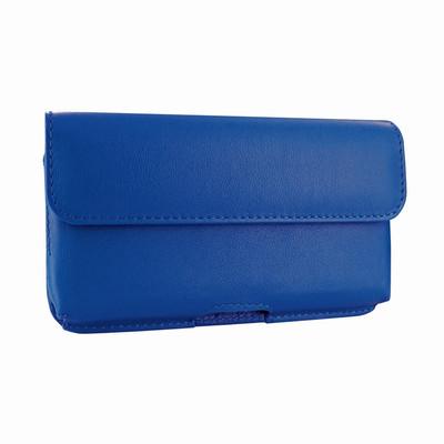 Piel Frama iPhone X / Xs Horizontal Pouch Leather Case - Blue