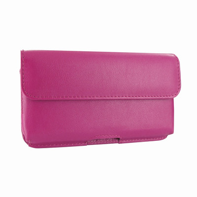 Piel Frama iPhone X / Xs Horizontal Pouch Leather Case - Fuchsia