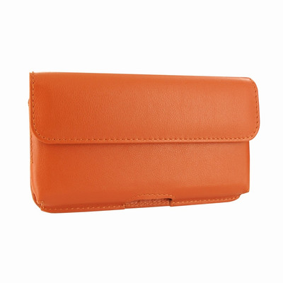 Piel Frama iPhone X / Xs Horizontal Pouch Leather Case - Orange