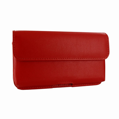 Piel Frama iPhone X / Xs Horizontal Pouch Leather Case - Red