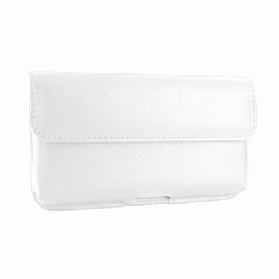 Piel Frama iPhone X / Xs Horizontal Pouch Leather Case - White