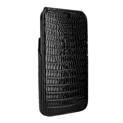 Piel Frama iPhone X / Xs iMagnum Leather Case - Black Cowskin-Lizard