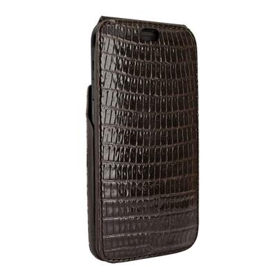 Piel Frama iPhone X / Xs iMagnum Leather Case - Brown Cowskin-Lizard