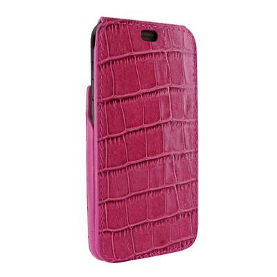 Piel Frama iPhone X / Xs iMagnum Leather Case - Fuchsia Cowskin-Crocodile