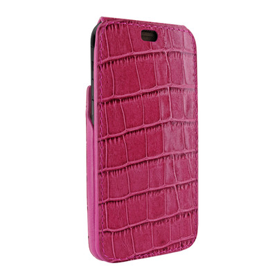 Piel Frama iPhone X / Xs iMagnum Leather Case - Fuchsia Cowskin-Crocodile