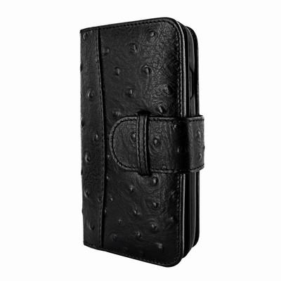 Piel Frama iPhone X / Xs WalletMagnum Leather Case - Black Cowskin-Ostrich
