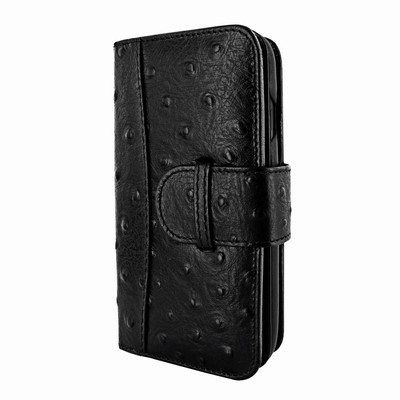 Piel Frama iPhone X / Xs WalletMagnum Leather Case - Black Cowskin-Ostrich
