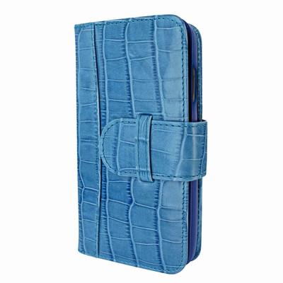 Piel Frama iPhone X / Xs WalletMagnum Leather Case - Blue Cowskin-Crocodile