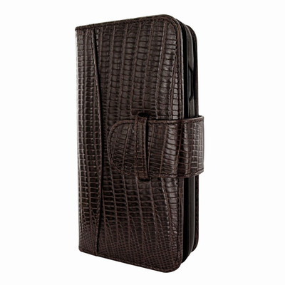 Piel Frama iPhone X / Xs WalletMagnum Leather Case - Brown Cowskin-Lizard