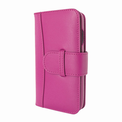 Piel Frama iPhone X / Xs WalletMagnum Leather Case - Fuchsia