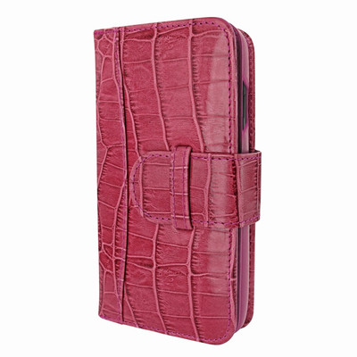 Piel Frama iPhone X / Xs WalletMagnum Leather Case - Fuchsia Cowskin-Crocodile