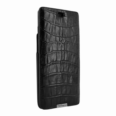 Piel Frama Samsung Galaxy Note 8 iMagnum Leather Case - Black Cowskin-Crocodile