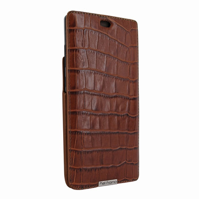 Piel Frama Samsung Galaxy Note 8 iMagnum Leather Case - Brown Cowskin-Crocodile