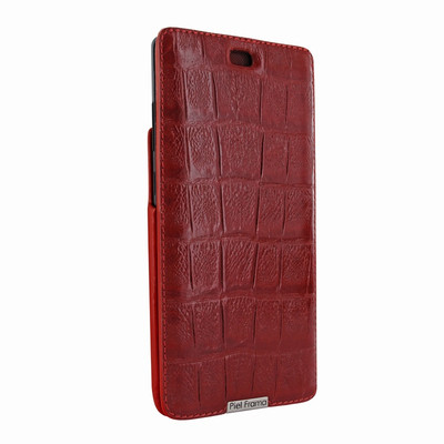 Piel Frama Samsung Galaxy Note 8 iMagnum Leather Case - Red Wild Cowskin-Crocodile