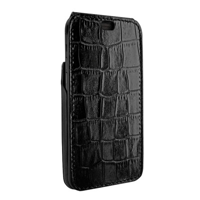 Piel Frama iPhone XR iMagnum Leather Case - Black Cowskin-Crocodile
