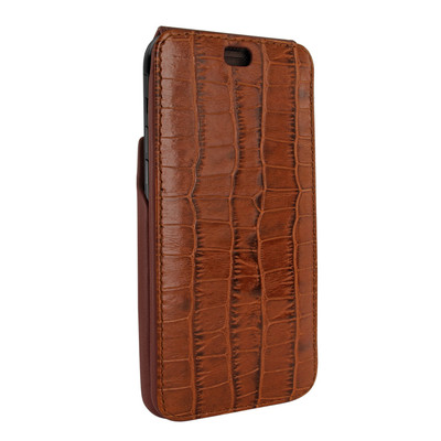 Piel Frama iPhone XR iMagnum Leather Case - Brown Cowskin-Crocodile