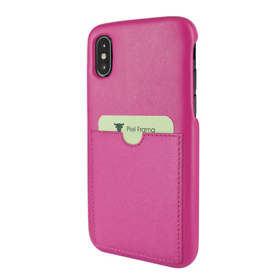 Piel Frama iPhone Xs Max FramaSlimGrip Leather Case - Fuchsia