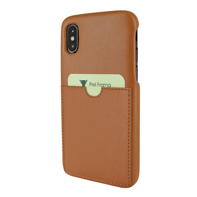 Piel Frama iPhone X / Xs FramaSlimGrip with Card Pocket Leather Case - Tan