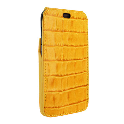 Piel Frama iPhone Xs Max iMagnum Leather Case - Yellow Cowskin-Crocodile