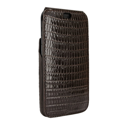 Piel Frama iPhone Xs Max iMagnum Leather Case - Brown Cowskin-Lizard