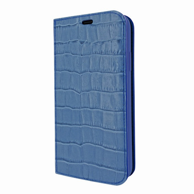 Piel Frama iPhone Xs Max FramaSlimCards Leather Case - Blue Cowskin-Crocodile