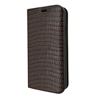 Piel Frama iPhone Xs Max FramaSlimCards Leather Case - Brown Cowskin-Lizard