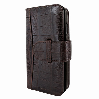 Piel Frama iPhone 11 Pro Max WalletMagnum Leather Case - Brown Wild Cowskin-Crocodile