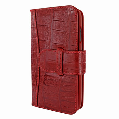 Piel Frama iPhone 11 Pro Max WalletMagnum Leather Case - Red Wild Cowskin-Crocodile