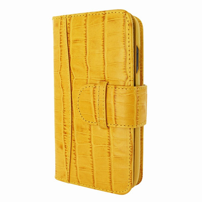 Piel Frama iPhone 11 Pro WalletMagnum Leather Case - Yellow Cowskin-Crocodile