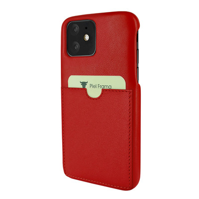 Piel Frama iPhone 11  FramaSlimGrip Leather Case - Red