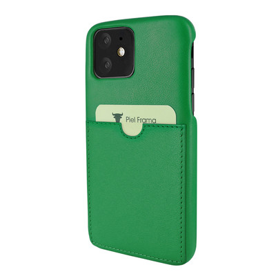 Piel Frama iPhone 11  FramaSlimGrip Leather Case - Green