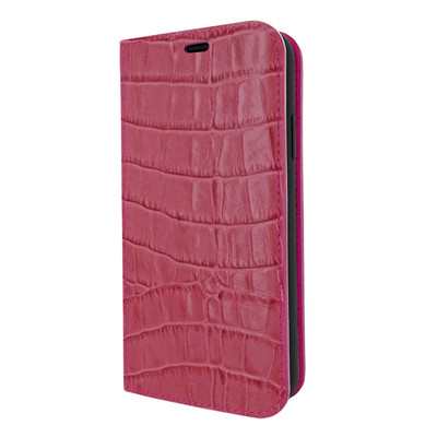 Piel Frama iPhone 11 Pro FramaSlimCards Leather Case - Fuchsia Cowskin-Crocodile