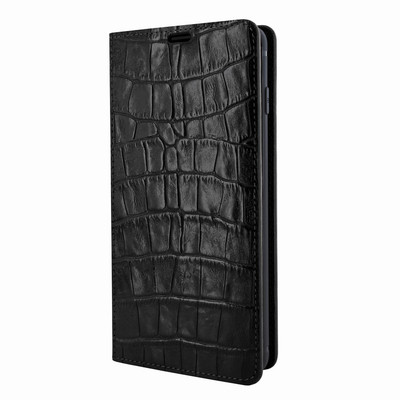 Piel Frama Samsung Galaxy S10e FramaSlimCards Leather Case - Black Cowskin-Crocodile