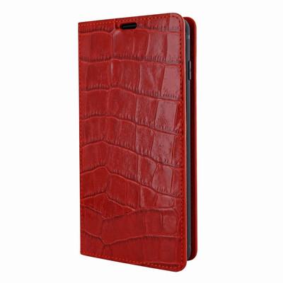 Piel Frama Samsung Galaxy S10e FramaSlimCards Leather Case - Red Cowskin-Crocodile