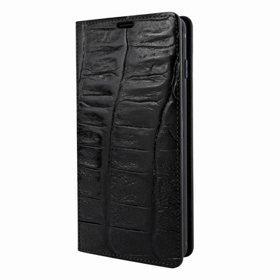 Piel Frama Samsung Galaxy S10 PLUS FramaSlimCards Leather Case - Black Wild Cowskin-Crocodile