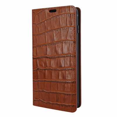 Piel Frama Samsung Galaxy S10 FramaSlimCards Leather Case - Brown Cowskin-Crocodile