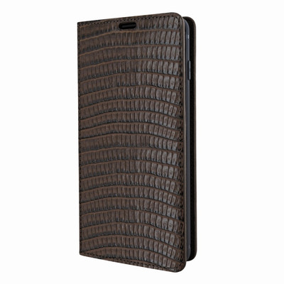 Piel Frama Samsung Galaxy S10 FramaSlimCards Leather Case - Brown Cowskin-Lizard